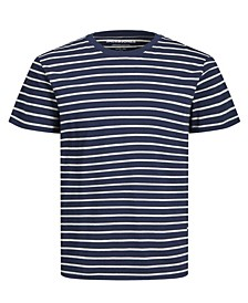Men's Stripe Crew Neck Organic Short Sleeve T-shirt
