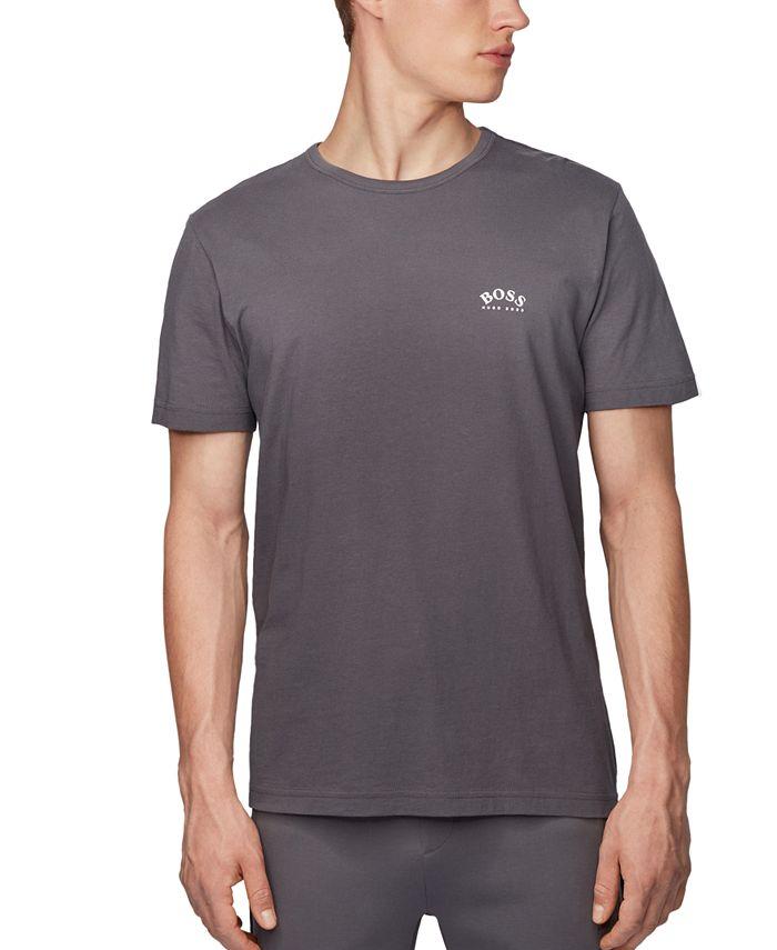 Hugo Boss - Men's Tee Curved Charcoal T-Shirt