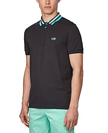 BOSS Men's Paddy 1 Black Polo Shirt