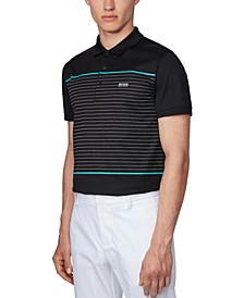 BOSS Men's Paule 8 Black Polo Shirt