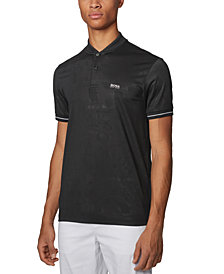 BOSS Men's Pariq Black Polo Shirt
