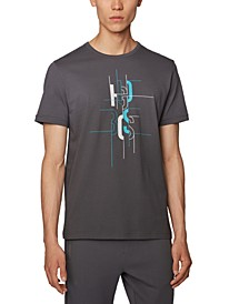 BOSS Men's Tee 2 Open Grey T-Shirt