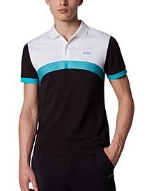 BOSS Men's Paule 3 Black Polo Shirt