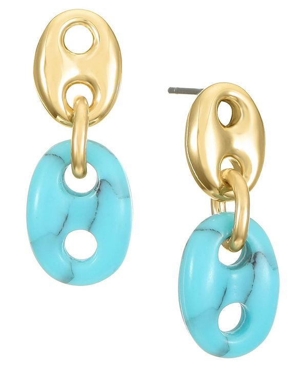 Trifari 14K Gold-Plated Drop Earring
