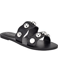 Bocci Ball-Stud Slide Sandals