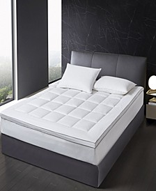 Tencel and Polyester Filled Mattress Topper, Full