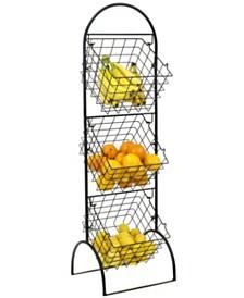 3 Tier Wire Market Basket Storage Stand