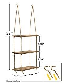 3 Tier Wood Hanging Shelf
