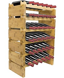 6 Tier Stackable Bamboo Wine Rack