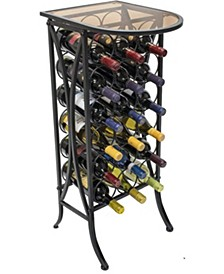 Wine Rack Stand Glass Table Top