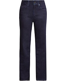 High-Rise Curvy Ankle Jeans