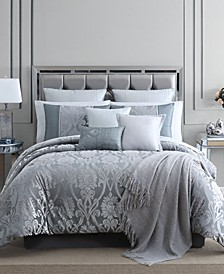Dorine Gray 14 PC CalKing Comforter Set