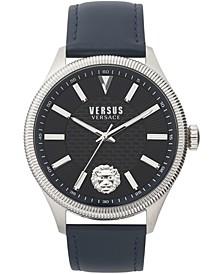 Men's Colonne Blue Leather Strap Watch 45mm