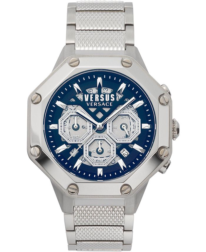 Versus by Versace - Men's Chronograph Palestro Stainless Steel Bracelet Watch 45mm