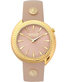 Women's Tortona Light Rose Leather Strap Watch 38mm