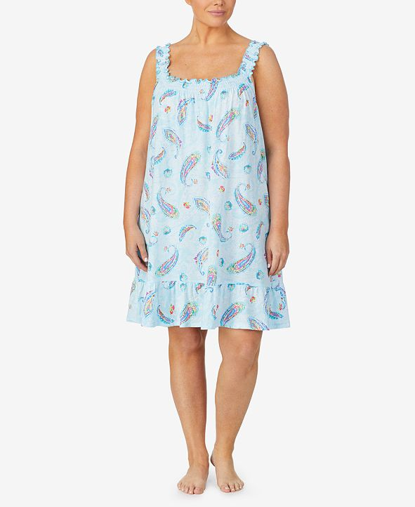 Lauren Ralph Lauren Plus Size Printed Jersey Chemise Nightgown