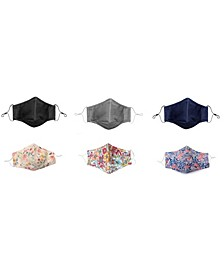 Adult 6-Pack Non-Medical Assorted Pattern Face Masks