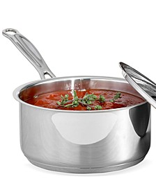 Chef's Classic Stainless Steel 1.5 Qt. Covered Saucepan