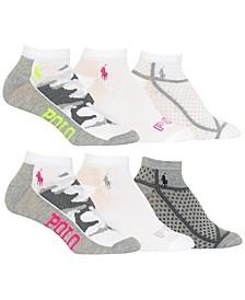 Women's Camo Mesh 6pk Low Cut Socks