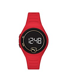 Forever Faster LCD Red Polyurethane Watch 42mm