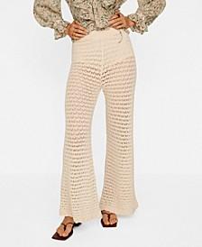 Women's Openwork Cotton Pants