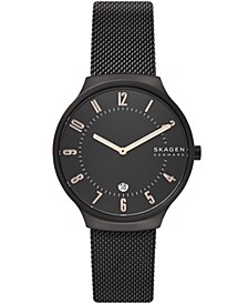Men's Grenen Black Stainless Steel Mesh Watch 38mm