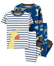 Toddler Boys 4-Pc. Giraffe Cotton Pajamas