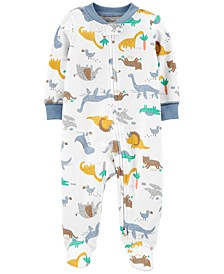 Baby Boys 1-Pc. Dinosaurs Cotton Coverall