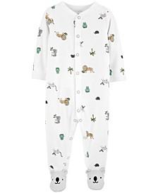 Baby Boys or Girls 1-Pc. Koala-Print Cotton Coverall
