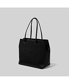 Logo Shopper East West Tote Bag