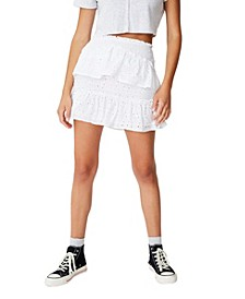 Ellie Broderie Mini Skirt