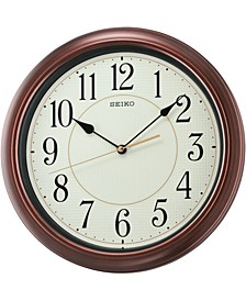 Wood-Tone Wall Clock