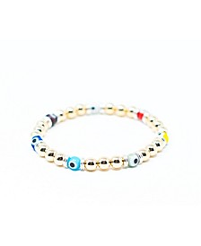 Luxe Gold Evil Eye Bracelet