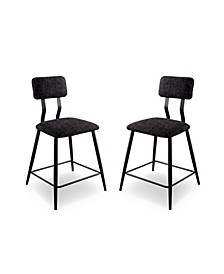 Locust 2 Piece Upholstered Counter Height Chairs Set