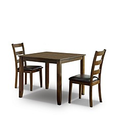 Chesterton 3 Piece Square Dining Table Set