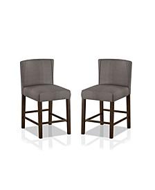Wilda 2 Piece Counter Height Chairs Set