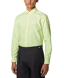 BOSS Men's Lukas Yellow Shirt