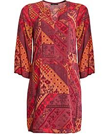 Patchwork-Print Shift Dress