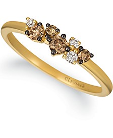 Chocolatier® Chocolate Diamond (1/4 ct. t.w.) & Vanilla Diamond (1/20 ct. t.w.) Ring in 14k Gold