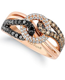 Exotics® Diamond Looped Statement Ring (7/8 ct. t.w.) in 14k Rose Gold