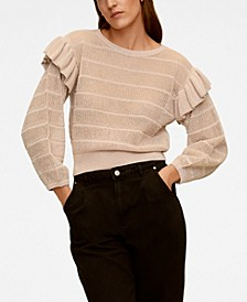 Frilled Openwork Sweater