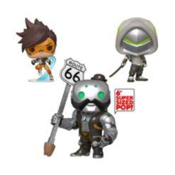 "Funko Pop Games Overwatch Collectors Set 2 - Tracer, Genji, 6"" B.o.b."