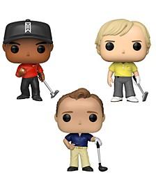 Pop Golf Legends Collectors Set - Tiger Woods Red Shirt , Jack Nicklaus, Arnold Palmer