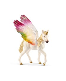 Bayala, Winged Rainbow Unicorn Foal Toy Figurine Playset