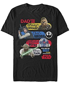 Men's Star Wars Best Father in The Galaxy Short Sleeve T-shirt