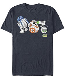 Men's Star Wars The Rise of Skywalker Droid Party Short Sleeve T-shirt
