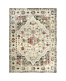 "Bella Safaa 2-641-45 Gray and Ivory 5'2"" x 7'2"" Area Rug"