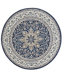 """Haven Hav09 Navy and Ivory 5'2"""" x 5'2"""" Round Rug"""