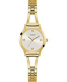Women's Petite Diamond-Accent Gold-Tone Stainless Steel Bracelet Watch 27mm