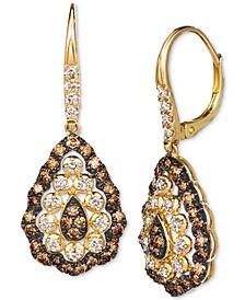 Chocolate Diamond (7/8 ct. t.w.) & Nude Diamond (1/2 ct. t.w.) Drop Earrings in 14k Gold